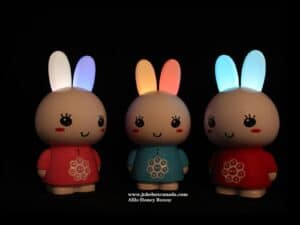 Honey Bunny Glow ears with website
