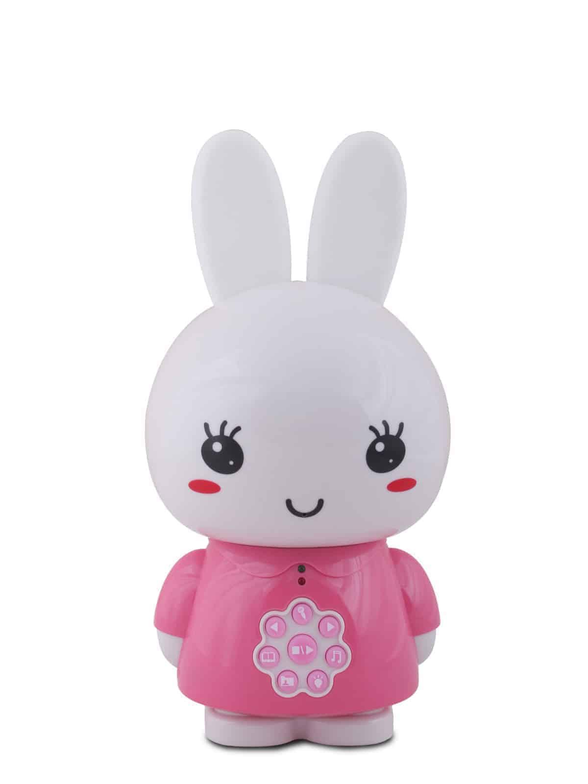 Vue de face de lapin rose