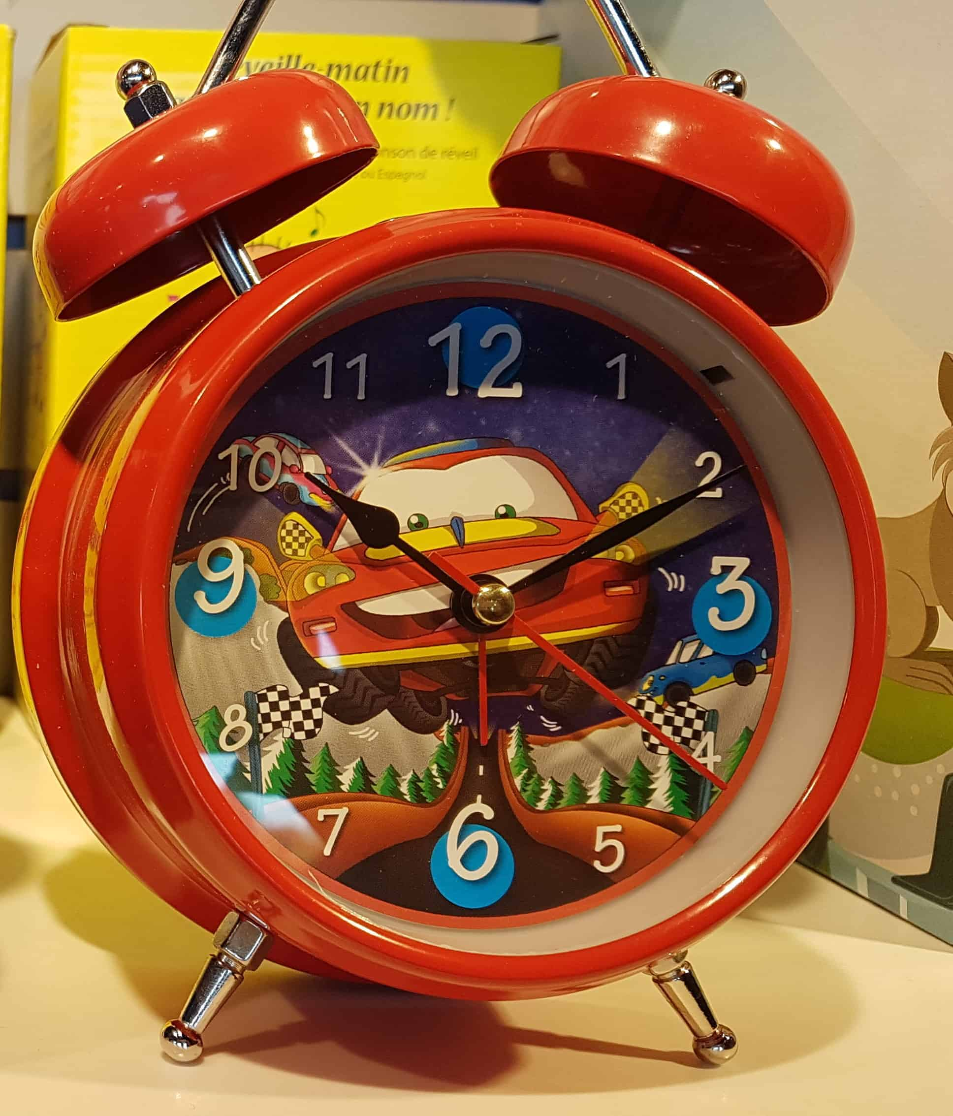 Personalized Singing Alarm Clock-Red Disney CARS face, sings your name in a wake up song