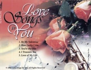 Love Songs Tray card 2