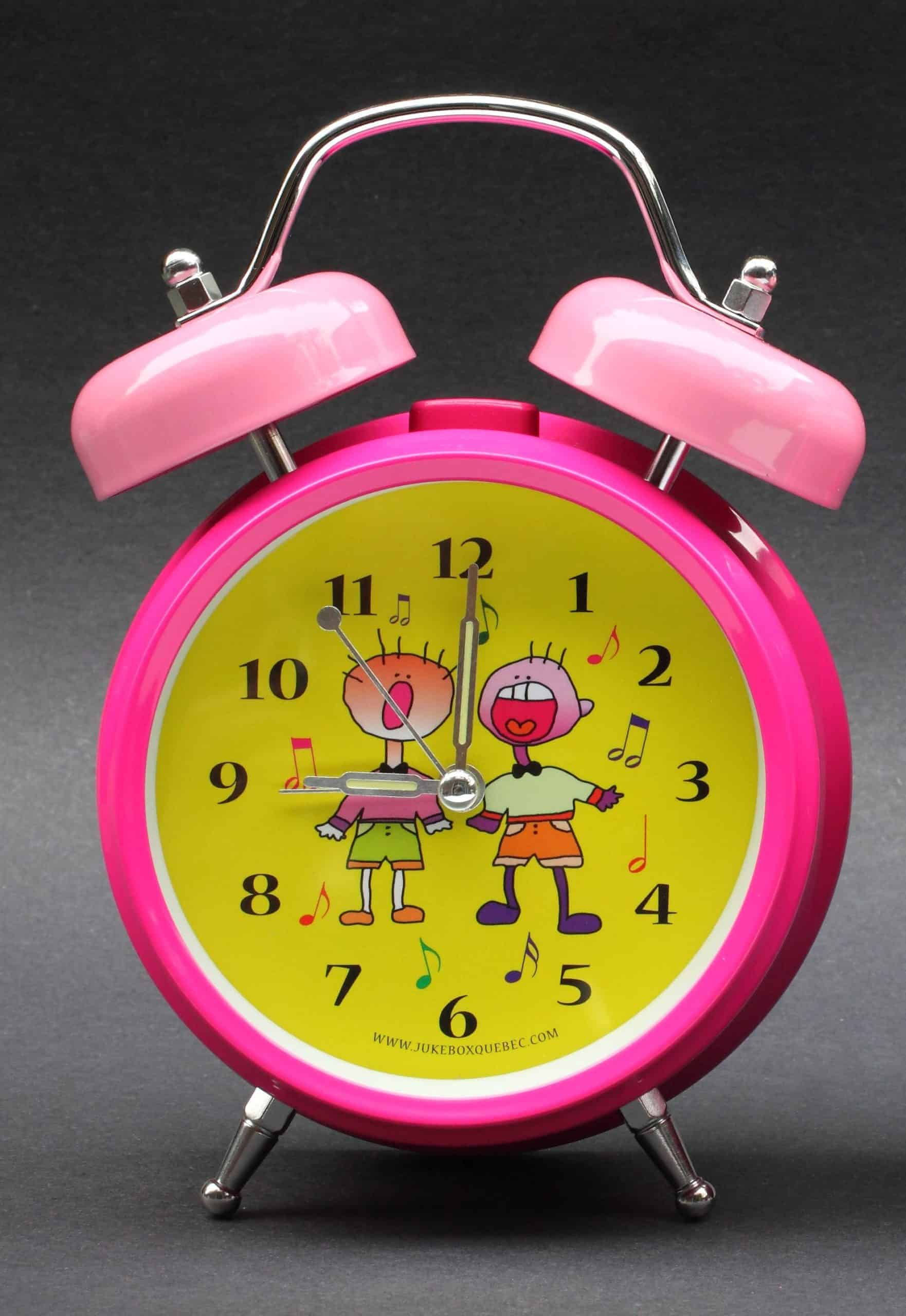 Pink Singing Kids Personalized Clock