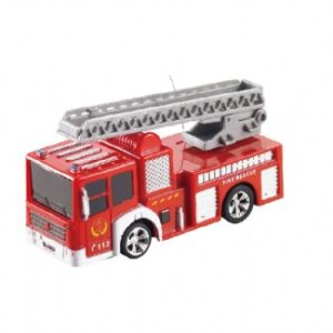 RC Mini Fire truck packaged in a can