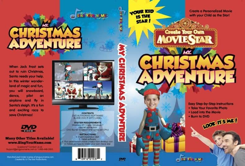 Christmas Adventure Personalized DVD