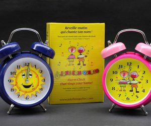 Blue Sun, Pink Kid Singing Alarm clocks that sing your name with gift box