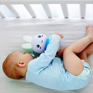Baby sleeping with Blue Alilo Honey Bunny
