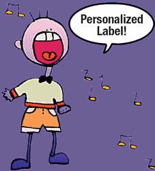 Etiquette personnalisee