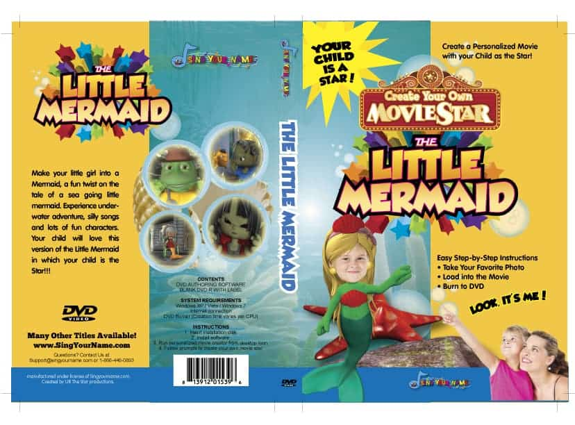 Little Mermaid Personalized DVD